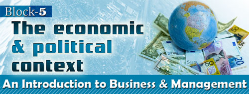 Course Image BBM-1.5: Intro. to Business Management (Block-5- The economic and political context)