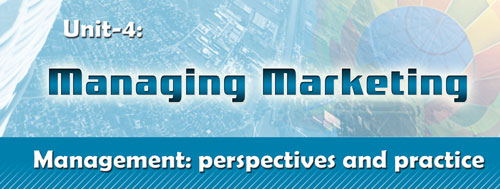 Course Image Management perspectives- Unit 4: Managing marketing