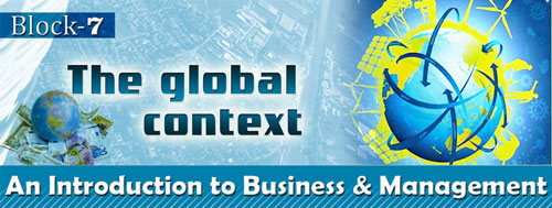 Course Image BBM-1.7: Intro. to Business Management (Block-7 - Global Context)